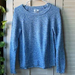 Old Navy blue/white speckle sweater, XS